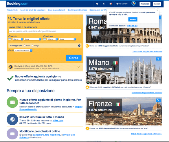 Booking.com nel 2014