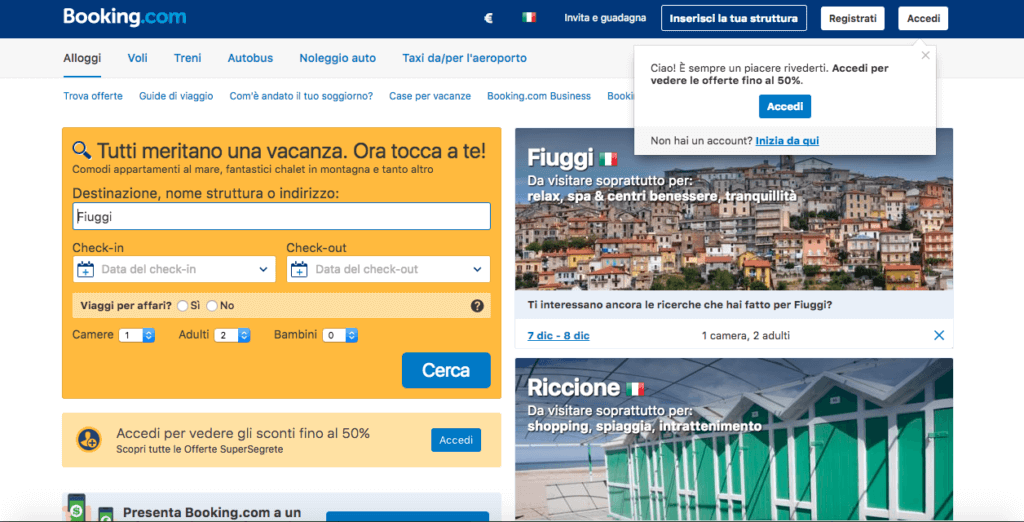 Booking.com oggi
